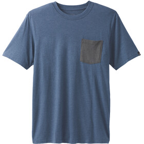 Prana Pocket Tee Men Denim Heather